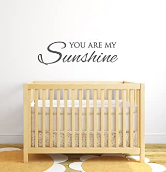 Amazoncom  You Are My Sunshine Wall Decal Quote Nursery Wall - Wall decals you are my sunshine