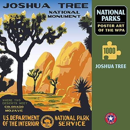 Joshua Tree National Park Poster  National Park Art  WPA Poster  National Park Print