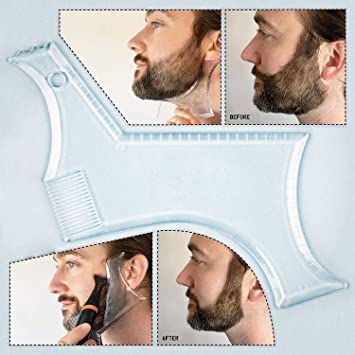 Super Techson Beard Styling Comb Transparent Trimming Grooming Stencil Natural Hairstyles Runnerswayorg