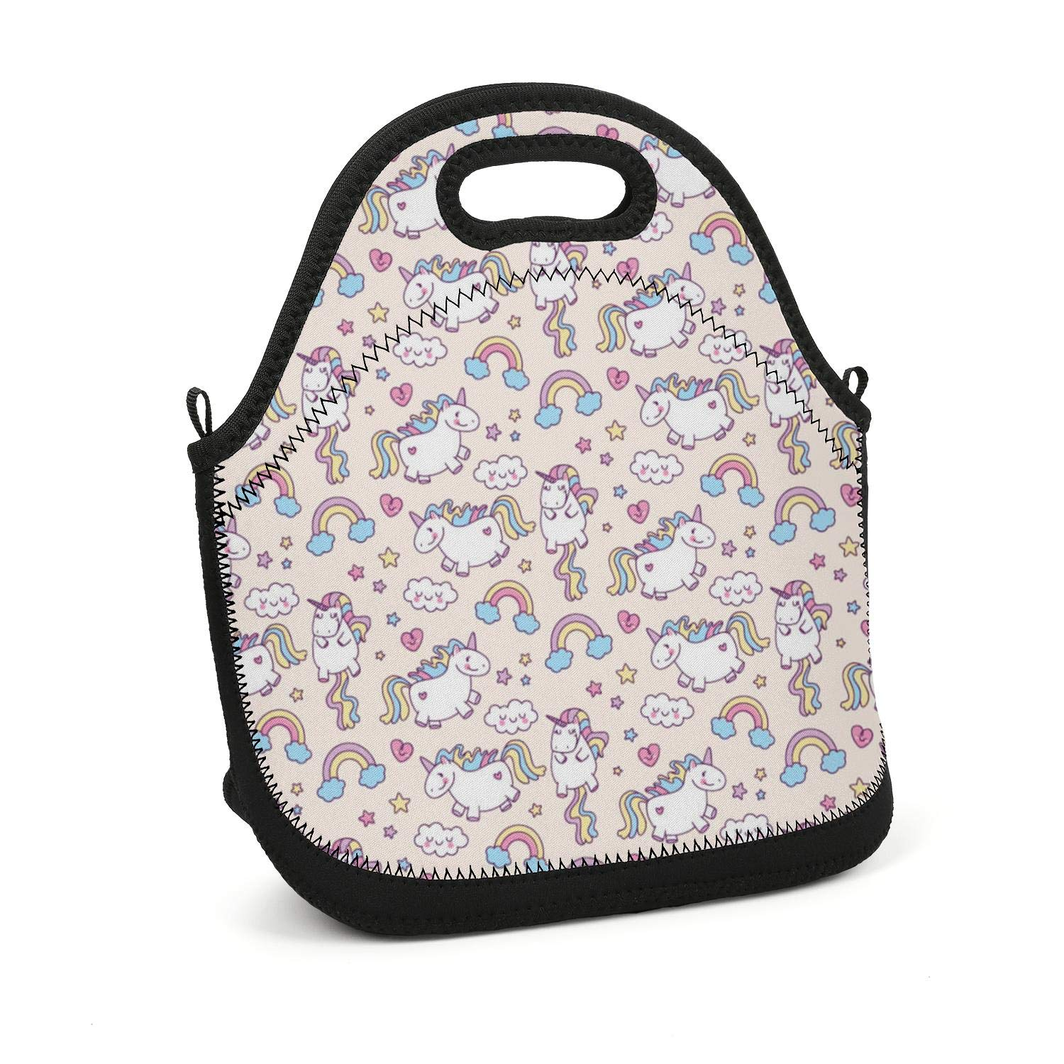 affc30efa7a3 Amazon.com - Hiunisyue Lunch Box Love Unicorn Rainbow Insulated ...