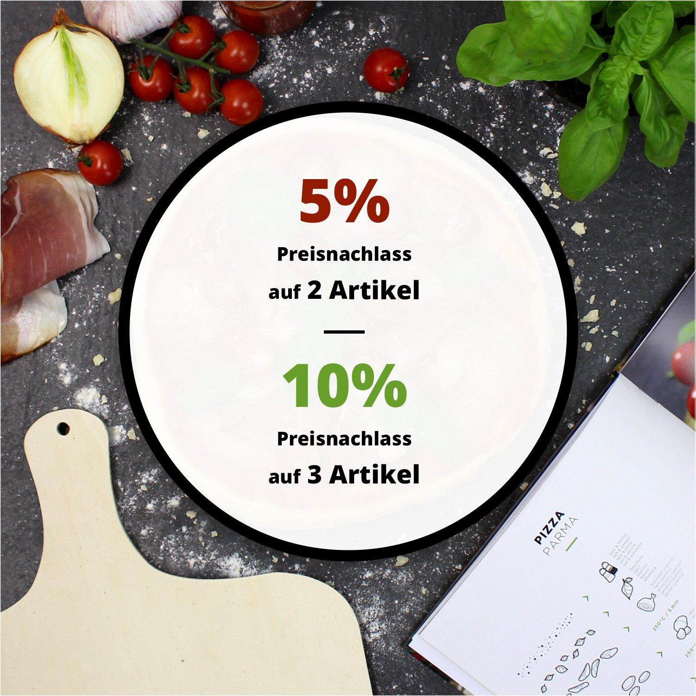 #benehacks/® Pizza Propria Pizzastein 1,5cm f/ür Backofen /& Grill Set zum Backen inkl Pizza-Rezeptbuch /& Pizzaschaufel /& Geschenkverpackung