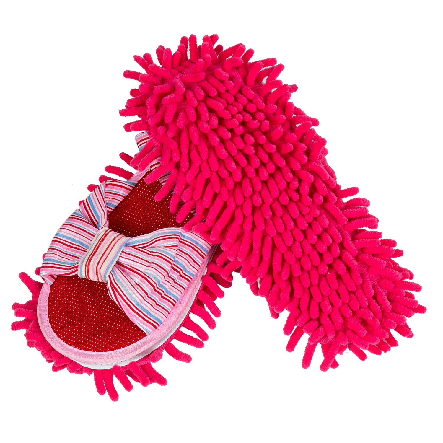 LEMNUY Duster Mop Slippers - House Dust Polishing Floor Cleaning, Chenille Microfiber Cover, Genie Multi - Surface Cleaner, Kitchen Clean Tool, Assorted Colors - Women Large Size 7-10, 1 Pair