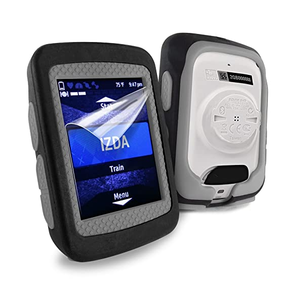Black Grey TUFF LUV 2nd Gen Silicone Twin layer Skin Case for Garmin Edge 1030