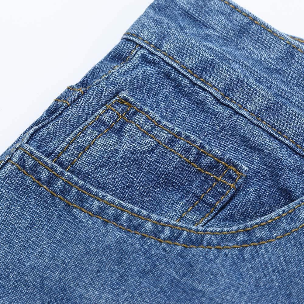 Stoota Men Slim Biker Zipper Denim Jeans,Skinny Frayed Pants Distressed Rip Trousers