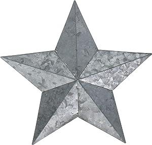 "Hampton Art Jillibean Soup Mix The Media 9.25"" W/Jute Hanger Galvanized Star"