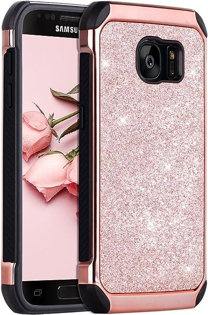 BENTOBEN Coque Samsung S7,Coque Galaxy S7, Etui Samsung S7 Housse de Protection Antichoc Pailletté Brillante Durable Résistante 2 en 1 Hybride PC ...