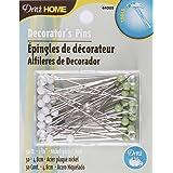 Dritz Home 44005 Decorator's Glass Head Pins, 1-7/8-Inch (50-Piece)