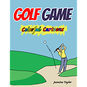 Golf Game Colorful Cartoon Illustrations