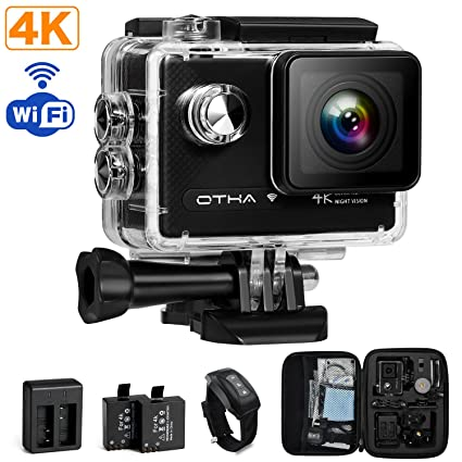 4K Action Camera OTHA Underwater For Snorkeling 170Angle 16MP Wifi Night