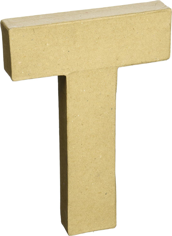 S Darice 2862-S Paper Mache Letter 1ct 8 Natural