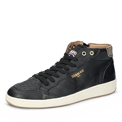 Blauer USA Herren Sneaker MURRAY02 LEA Schnürer High Leder Schwarz, Größe 41 fd91c77b06