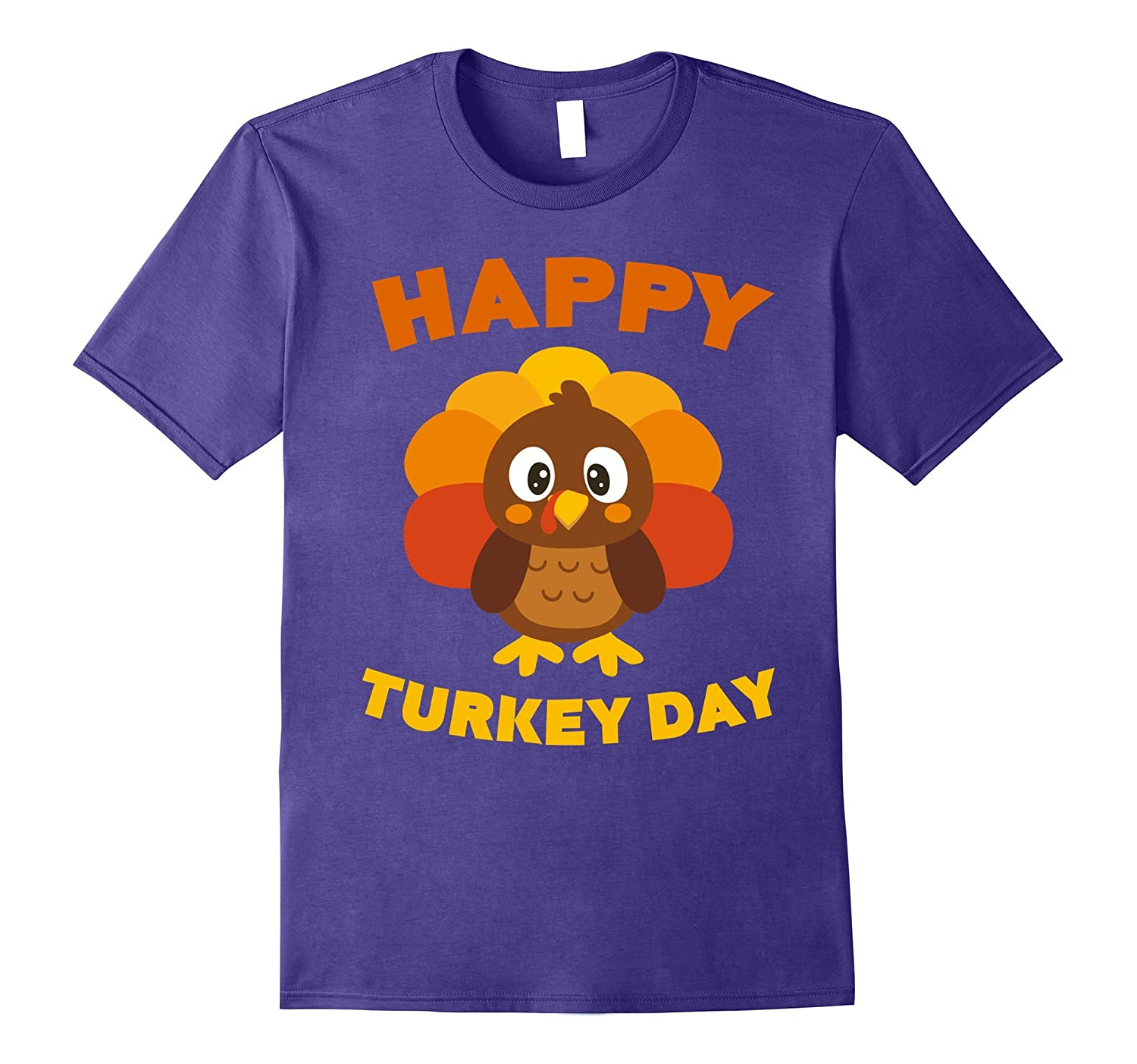 Happy Turkey Day T-Shirt Funny Thanksgiving Gift Shirt-TD