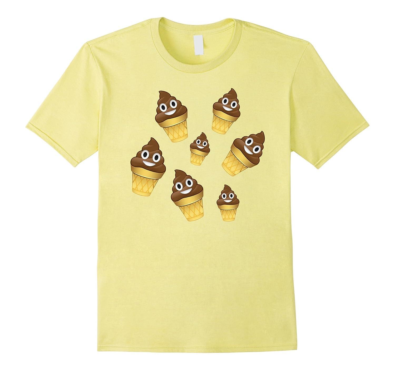 Poop Emoji Ice Cream Fun Whacky Shirt Pile Of Poo Kids Women Bn