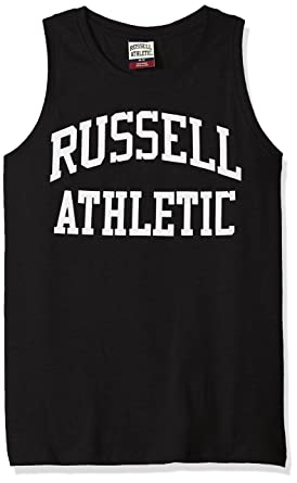 87be7db6348a0 Amazon.com  Russell Athletic Heritage Men s Iconic Arch Tank Top ...