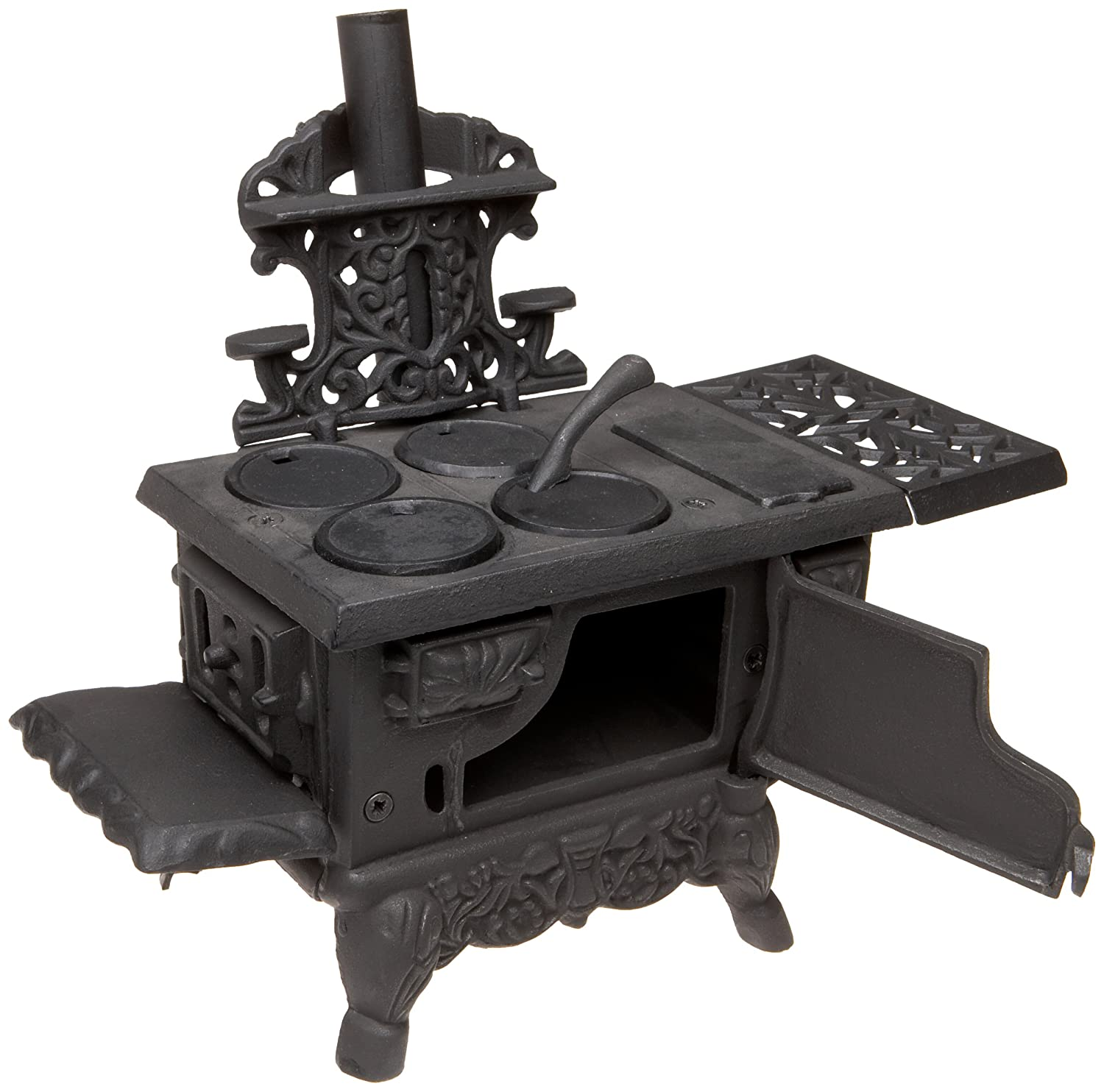 12 Inches Long With Accessories Old Mountain 10126 Black Mini Wood Cook Stove Set
