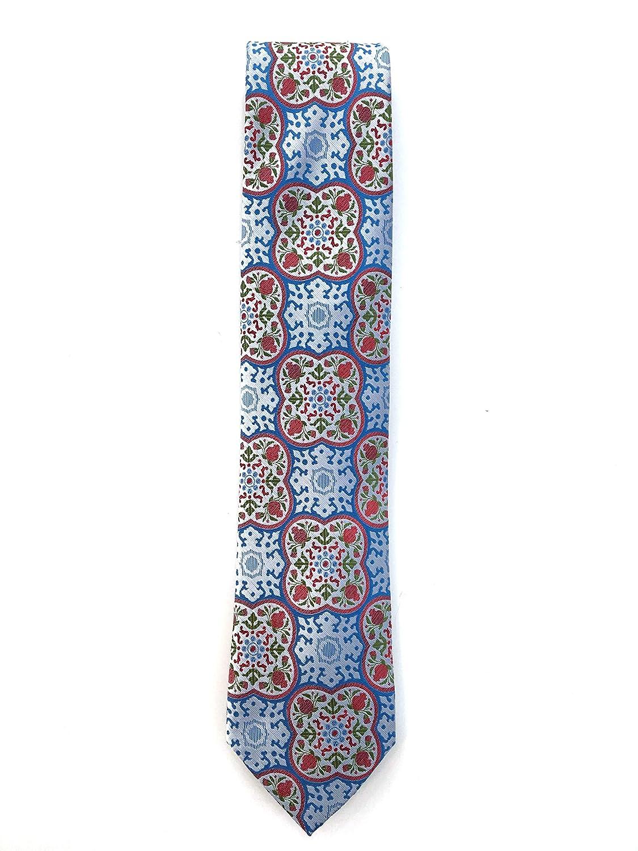 Francisco Pavón Corbata de fondo azul celeste con dibujo de flores ...