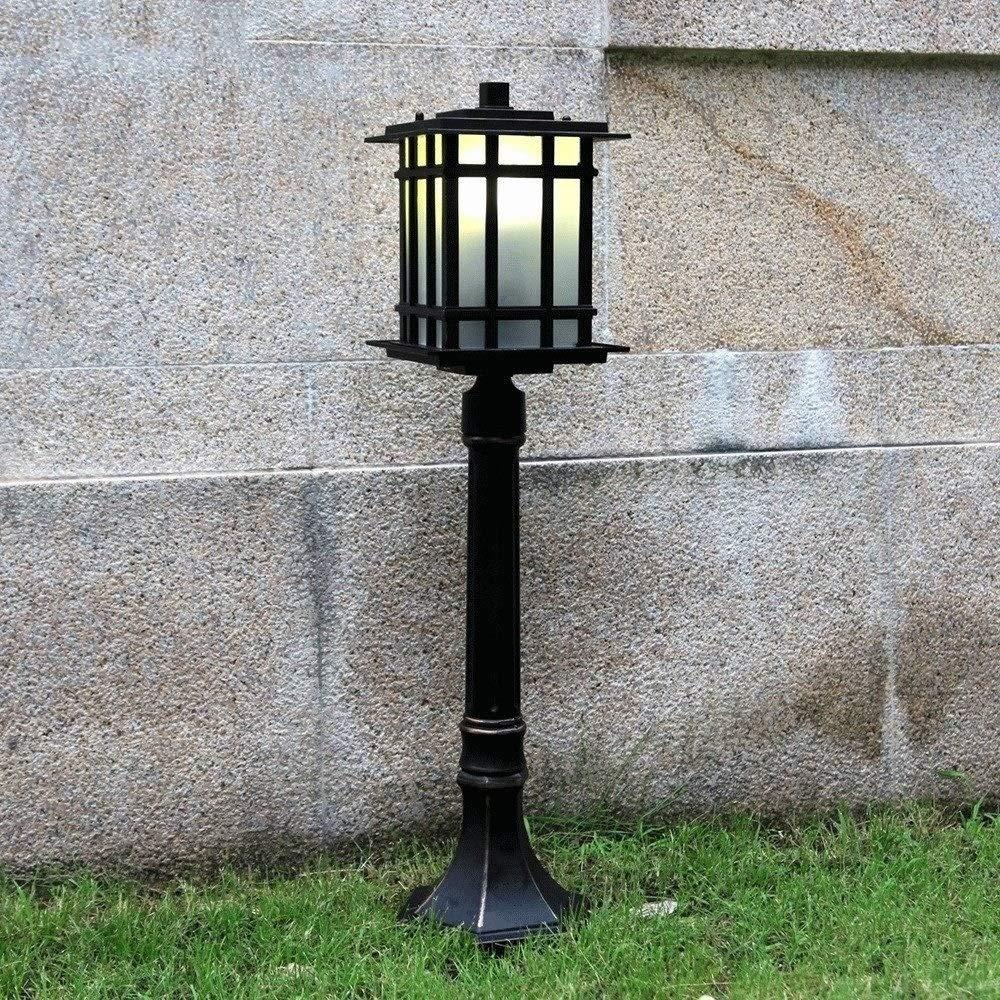 庭ライト別荘コミュニティ道の照明アルミニウム屋外の照明、芝生ライトはライトバーのヨーロッパのポストライトを厚くしました(16 * 80 * 18CM) PingFanMi B07SBD3MPC