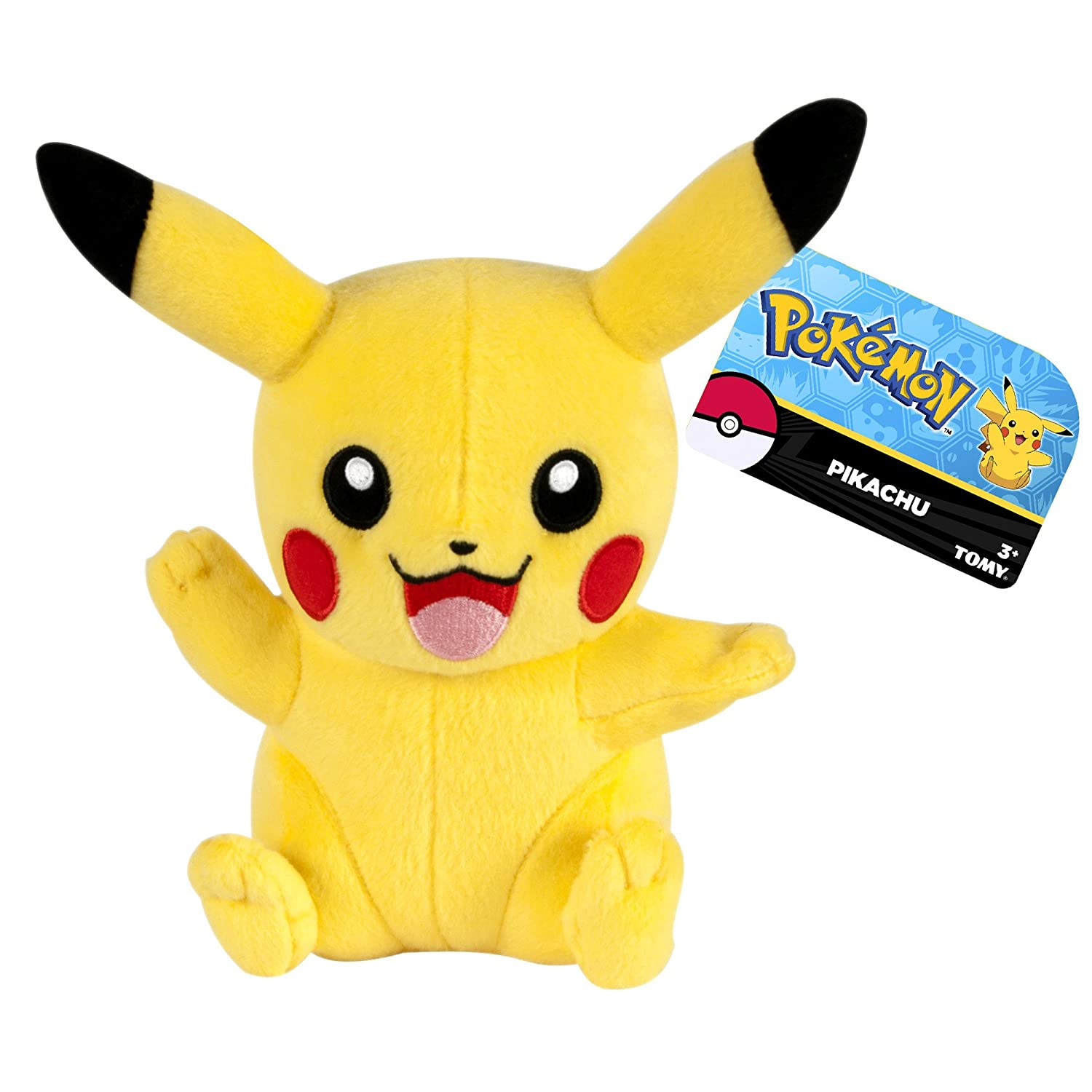 Amazon.com: Tomy - Peluche Pokemon - Pikachu 18cm - 0053941188962: Toys & Games