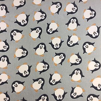 Fleece-Stoff mit Pinguin-Muster, super-weich, zum Basteln und für ...