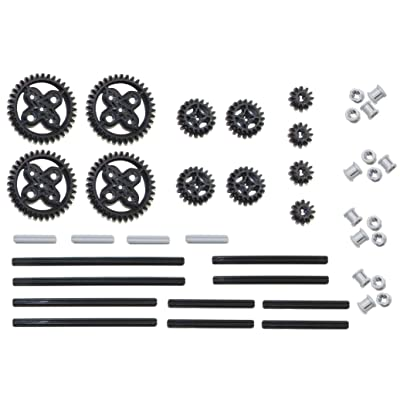 LEGO Technic 42pc Double Bevel gear axle pack SET lot (12,20,36 tooth,bushings): Toys & Games