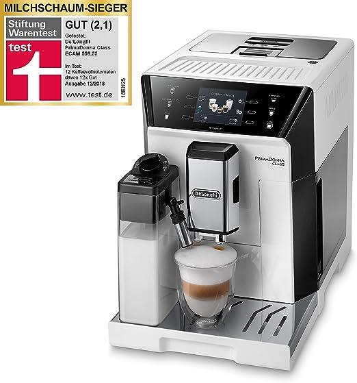 DeLonghi ECAM 556.55.W Cafetera automática, 1450 W, 2 Cups, Blanco: Amazon.es: Hogar