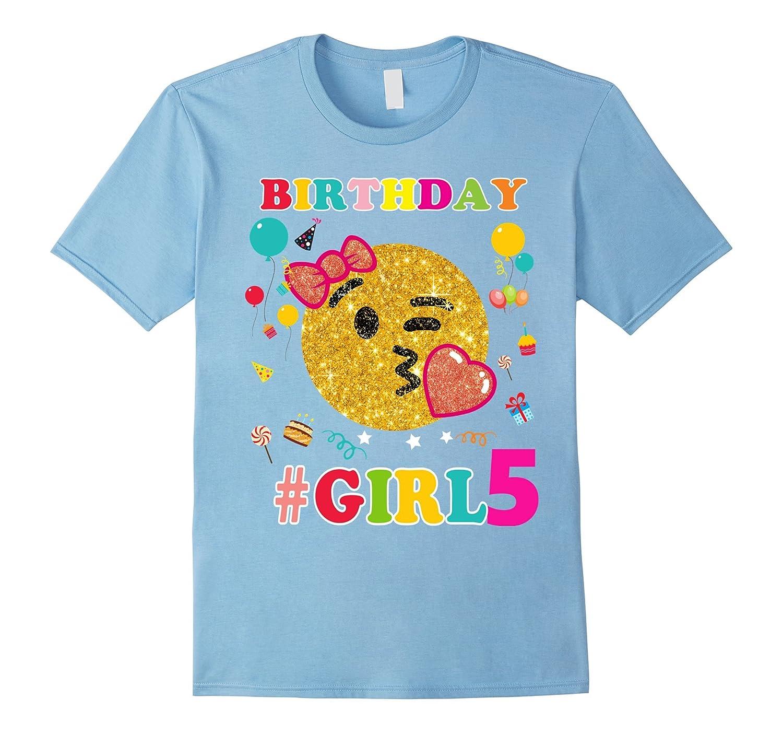 5th Birthday Girl Shirt Emoji Birthday