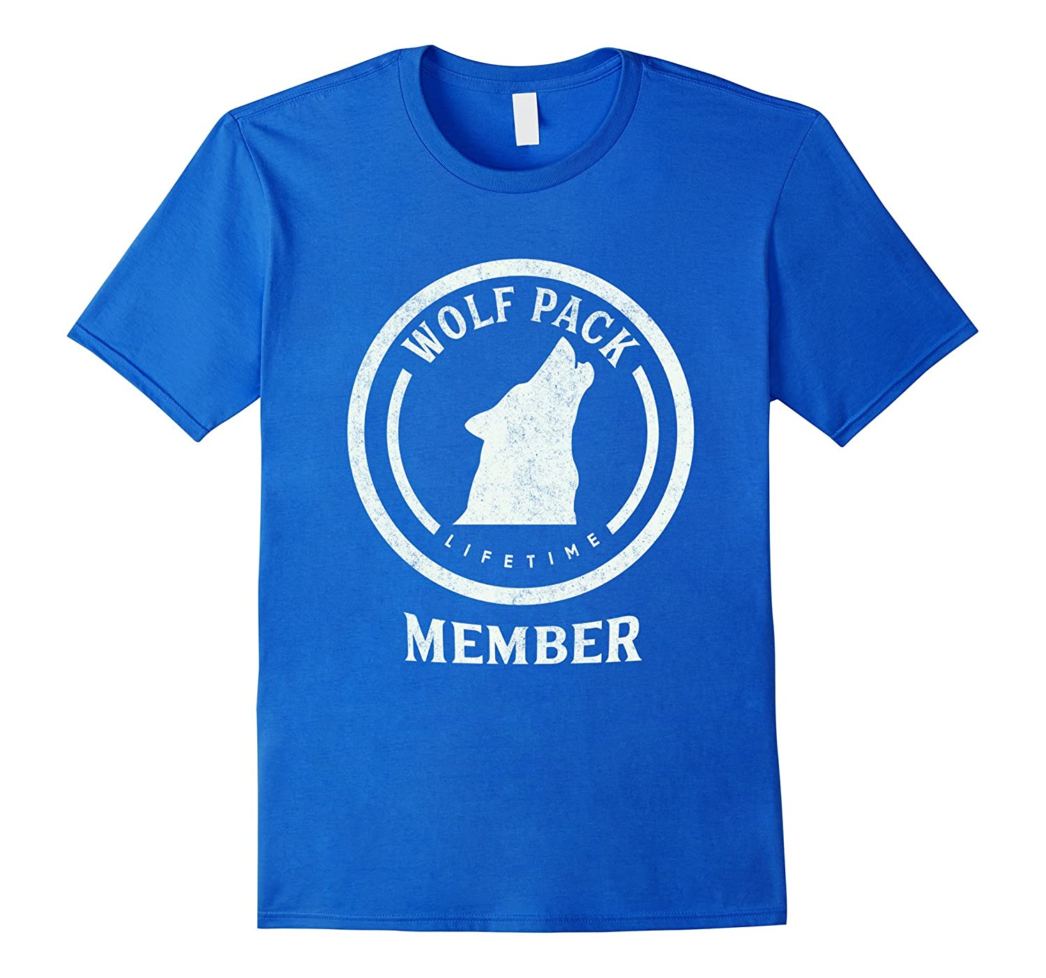 Howling Wolf Pack Lifetime Member Distressed T-Shirt-TH