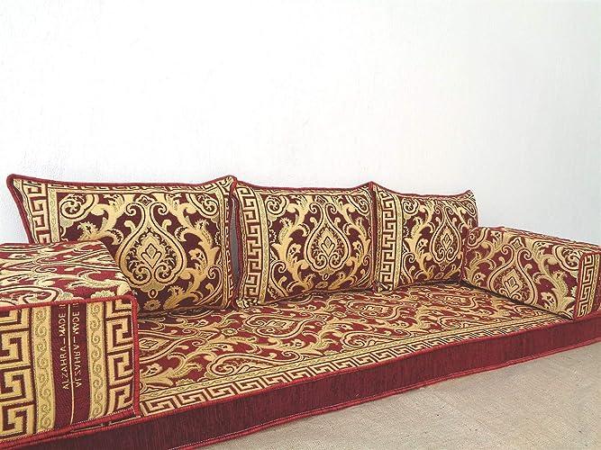 Amazon.com: arabic floor seating,arabic sofa,arabic couch ...