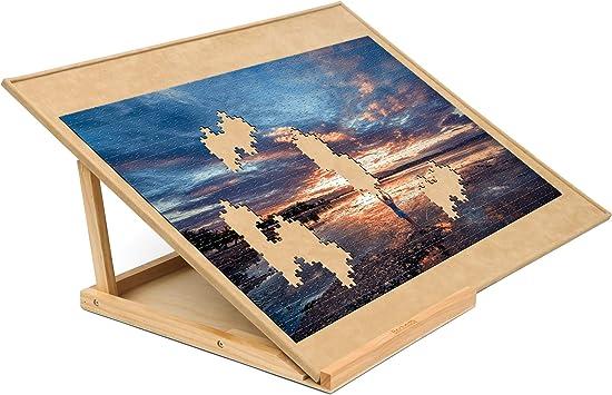 Becko Puzzle Board Bracket Set Holz Puzzle Board Kit Puzzle Plateau Puzzle Speichersystem Puzzleunterlage Puzzlematte Mit Puzzle Board Für Bis Zu 1000 Stück Spielzeug