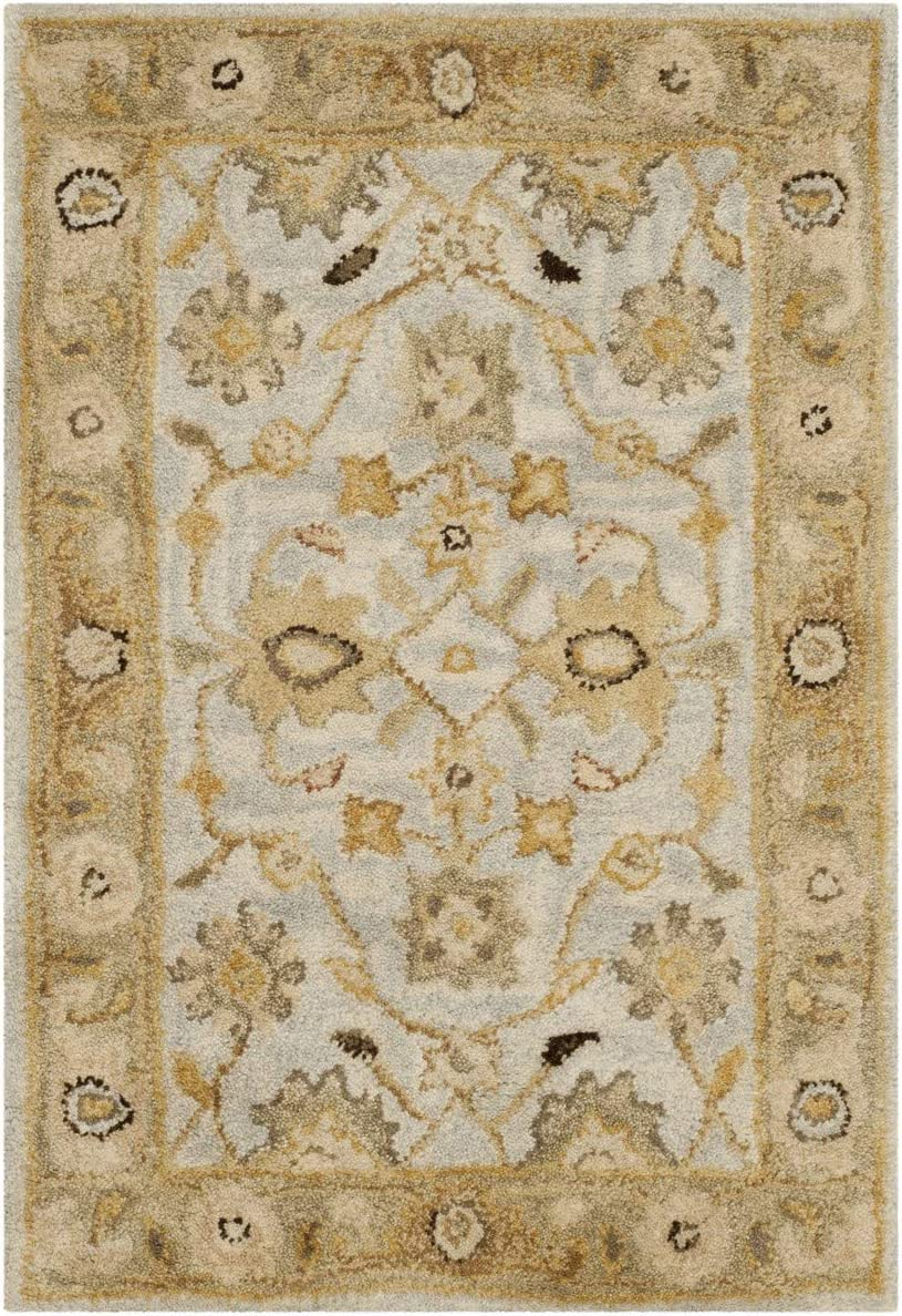 Safavieh Bella Collection BEL802A Handmade Tan and Ivory Premium Wool Round Area Rug 5 Diameter
