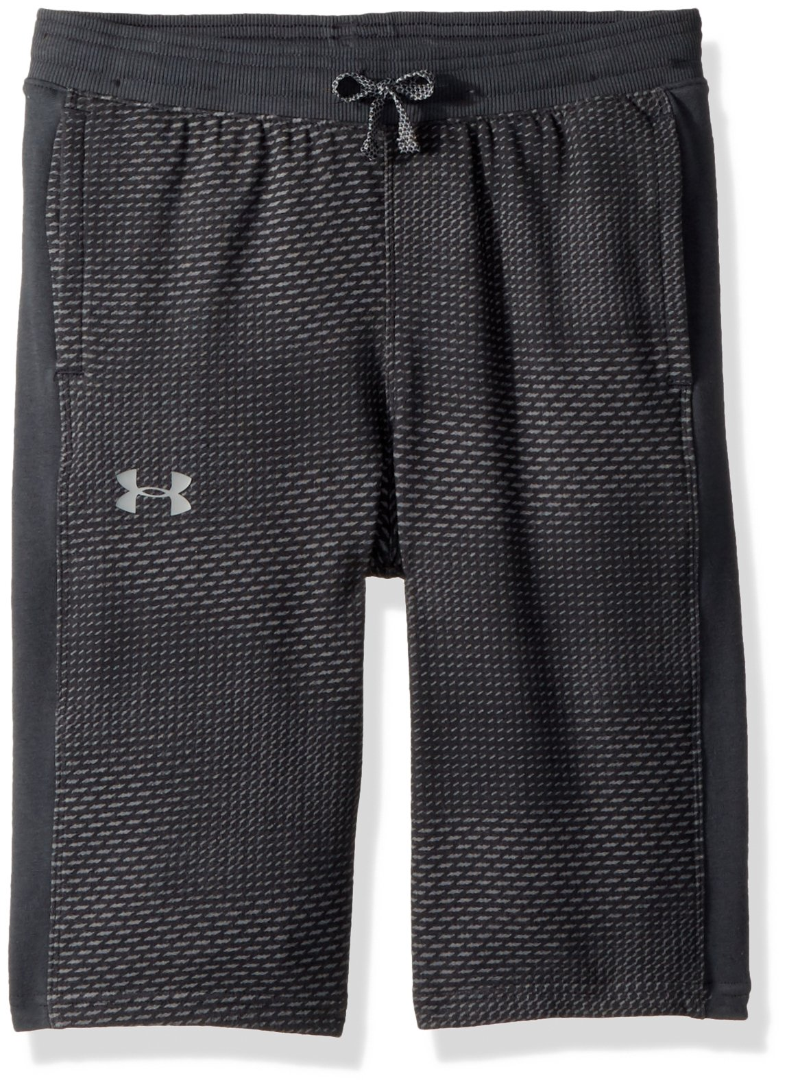 Under Armour Boys' Threadborne FT Shorts, Stealth Gray (008)/Neon Coral, Youth Small