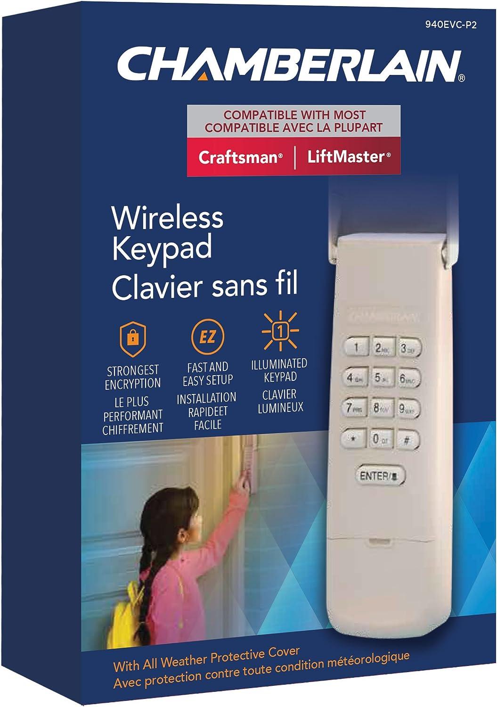 Chamberlain G940EVC-P2 Lift Master Garage Door Opener Keypad