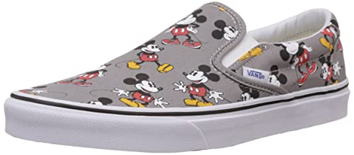 d3ec96b4c0 Vans Unisex Classic Slip-On (Disney) Mickeymouse and Frostgray Canvas  Loafers and Moccasins - 9 UK  Buy Online at Low Prices in India - Amazon.in