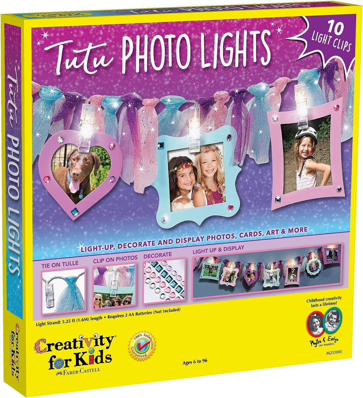 Creativity for Kids Tutu Photo Lights – Make Your own Photo-Clips String Light - Kids Room Decor