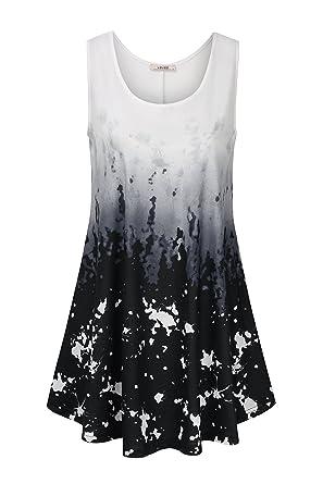 752860ca768 Vivilli Women's Sleeveless Summer Tank Top Plus Size for Women Summer  Shirts Pockets Dress Casual Swing