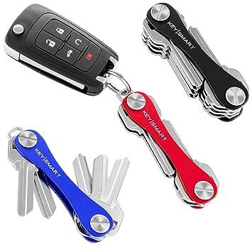 KeySmart Classic   Compact Key Holder And Keychain Organizer (2 14 Keys,  Black