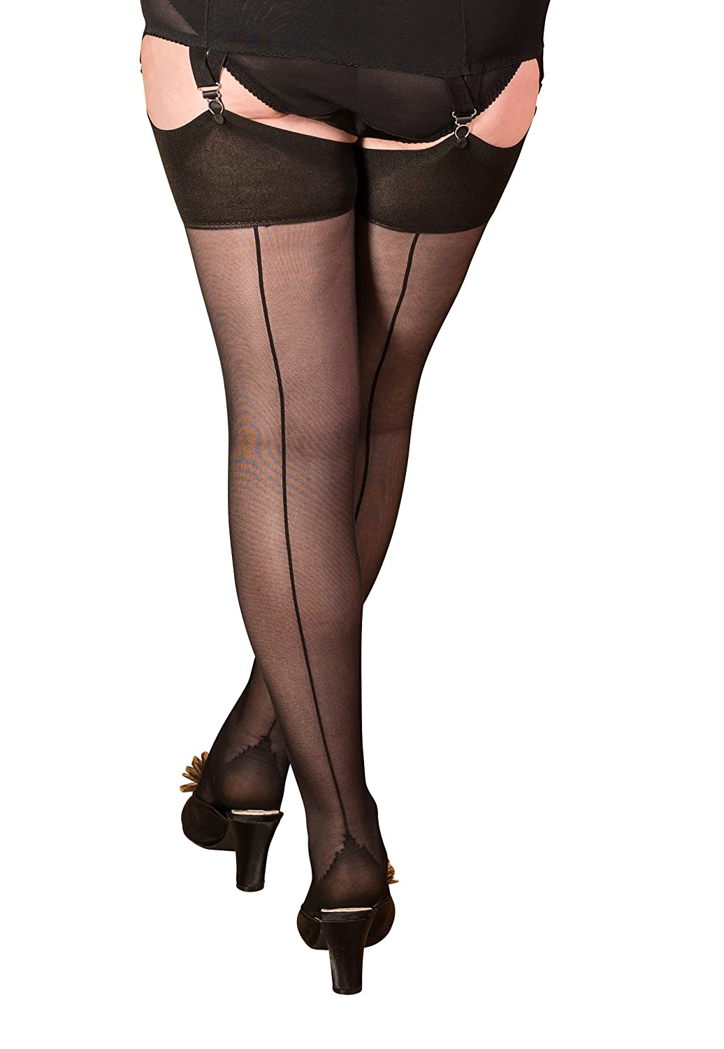 bef361642 What Katie Did Seamed Stockings 40 Denier Black (Small Med 5ft 1 To 5ft 7  (110-145lbs)