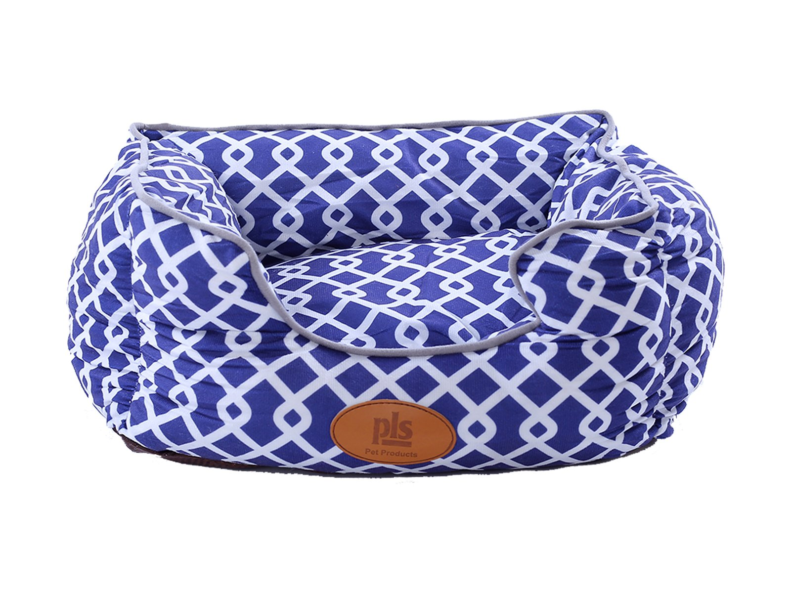 [NEW] PLS Birdsong Trellis Bolster Extra Small Dog Bed, Pet Bed, Cat Bed, Blue & Gray, Extra Small, Removable Cover, Completely Washable, Dog beds for extra small dogs