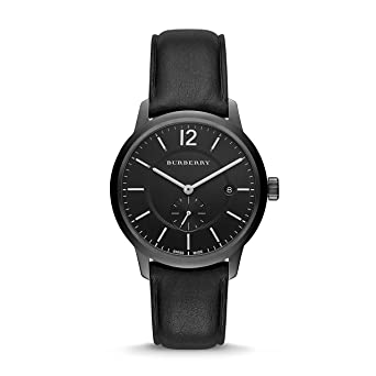 Image Unavailable. Image not available for. Color  Burberry Men s Swiss Black  Leather Strap ... 91a9d481624