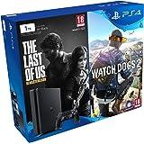 PlayStation 4 - Bundle Consola De 1 TB + The Last Of Us + Watch Dogs 2