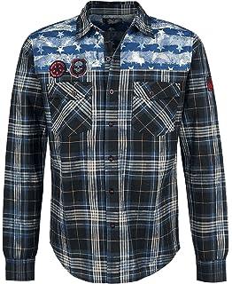 Rock Rebel by EMP Skull Cross T-shirt crème  Amazon.fr  Vêtements et ... 58892ab61112