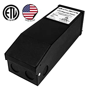 HitLights 100 Watt Dimmable Driver, Magnetic LED Driver - 110V AC-12V DC Transformer. Made in the USA. Compatible with Lutron and Leviton for LED Strip Lights, Constant Voltage LED