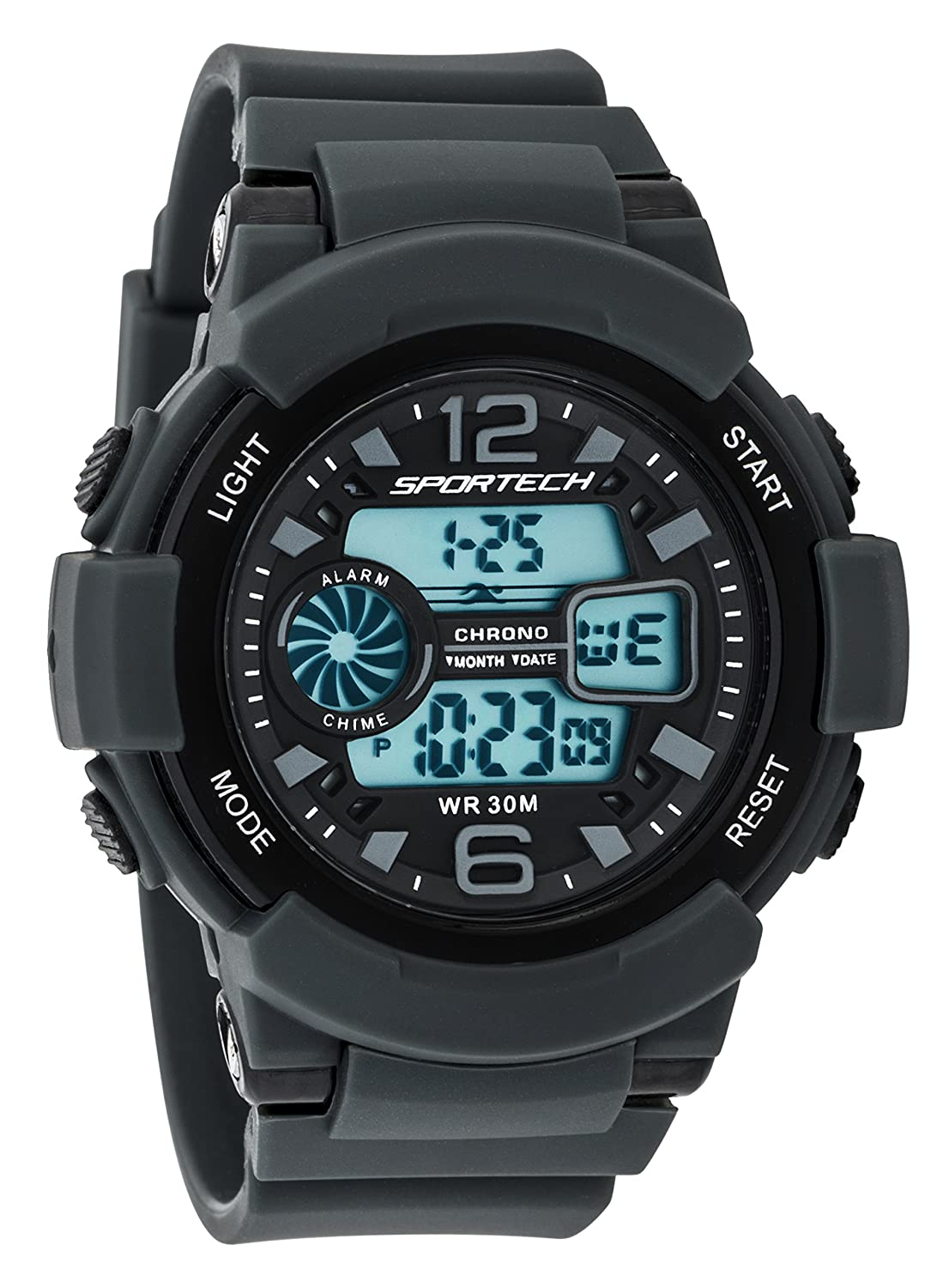 Sportech Men's/Women's | Classic Grey Digital Water Resistant Sport Watch | SP12003