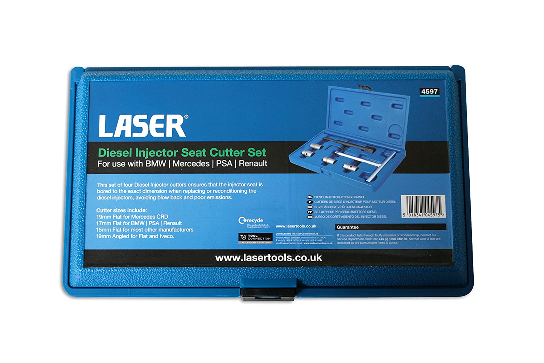 Laser 4597 Diesel Injector Seat Cutter Set