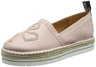 43b962478 Moschino Love Women's Espadrille w/Studded Detail Pink 39 M EU: Buy ...