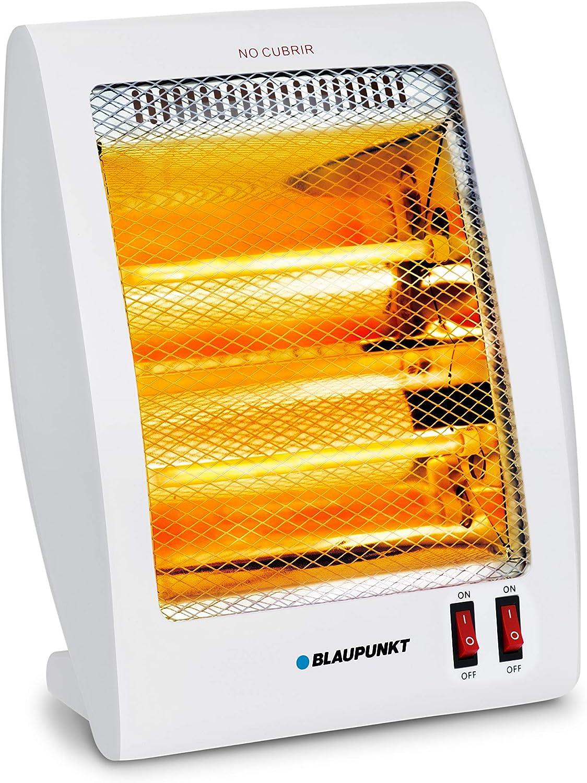 Blaupunkt BP1004 - Estufa De Cuarzo De Dos Tubos 800w 2 Niveles De Potencia: 400w - 800w. Protección Térmica, Interruptor Antivuelco.