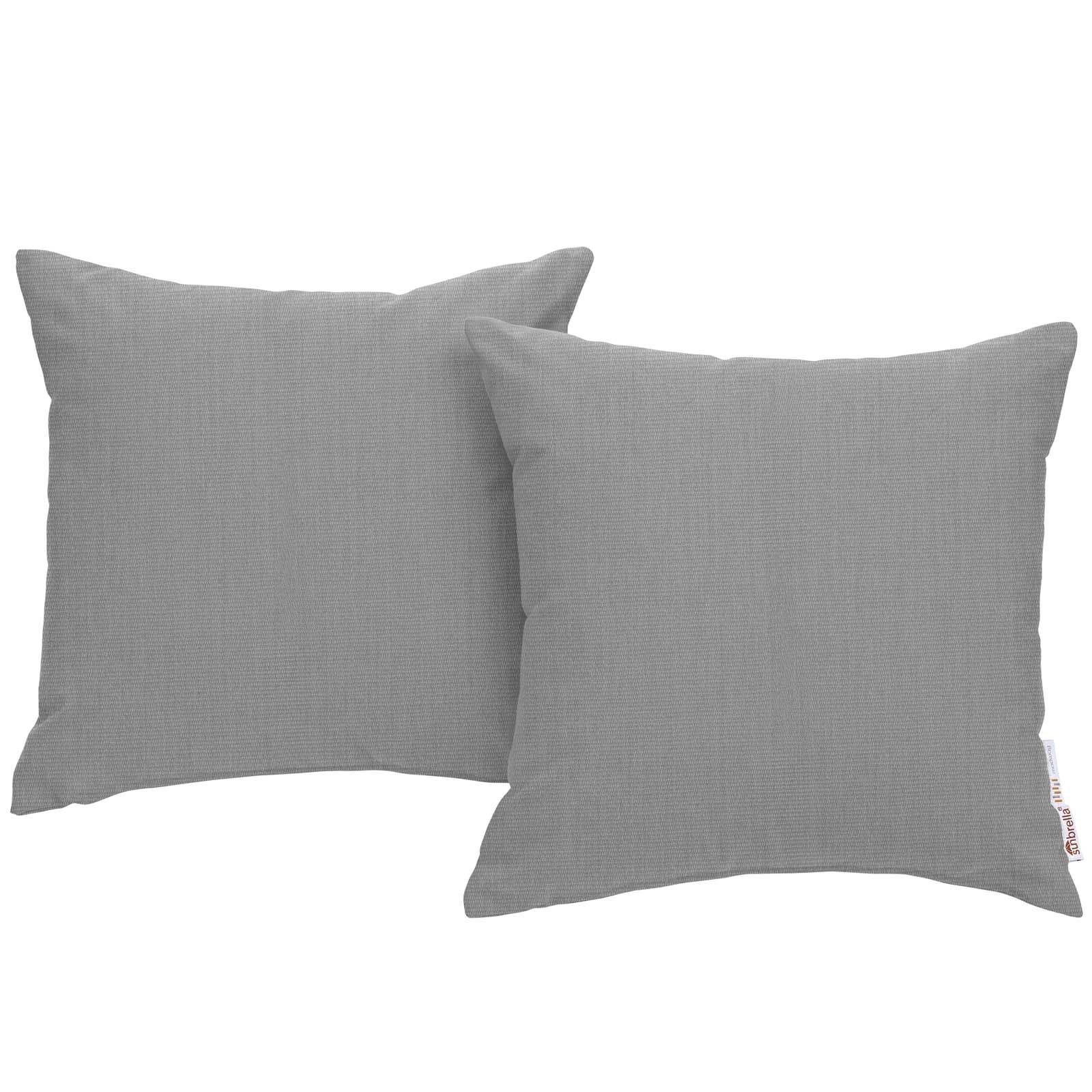 Modway EEI-2002-GRY (2 Piece) Outdoor Patio Pillow Set, Gray
