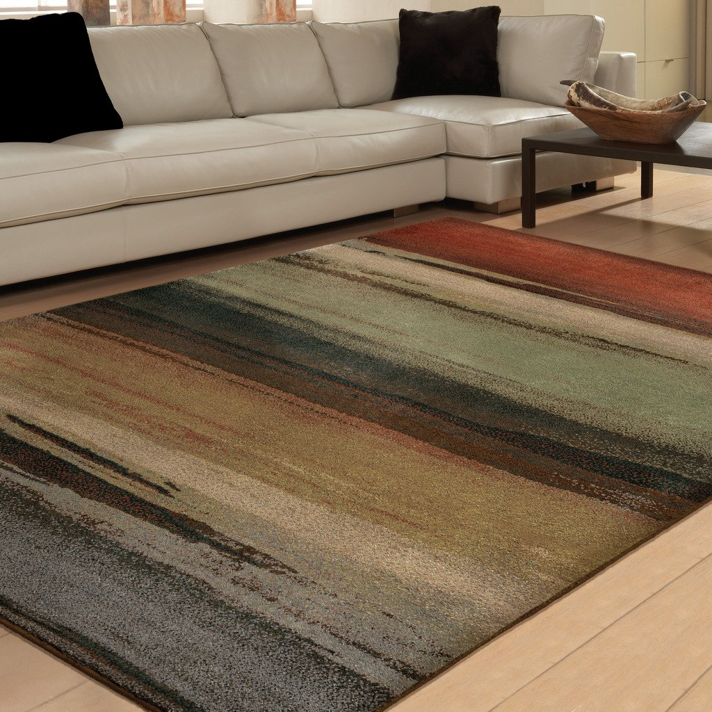 Orian Rugs Indoor/Outdoor Striped Cascade Multi Area Rug (5'3 x 7'6) 325935