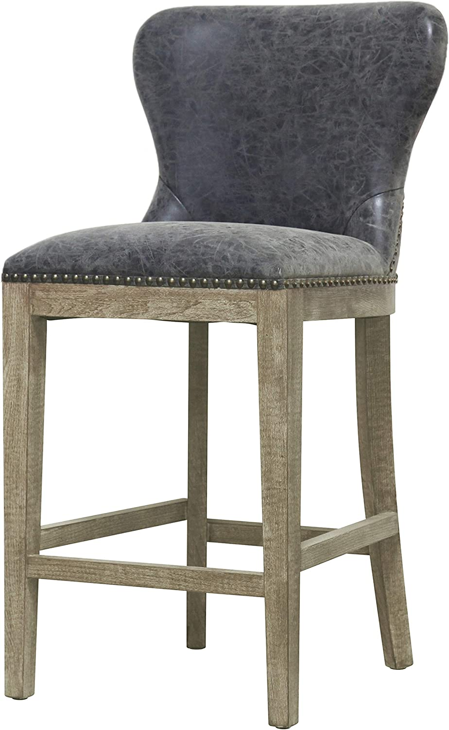 New Pacific Direct Dorsey Counter Bar Counter Stools, Nubuck Charcoal
