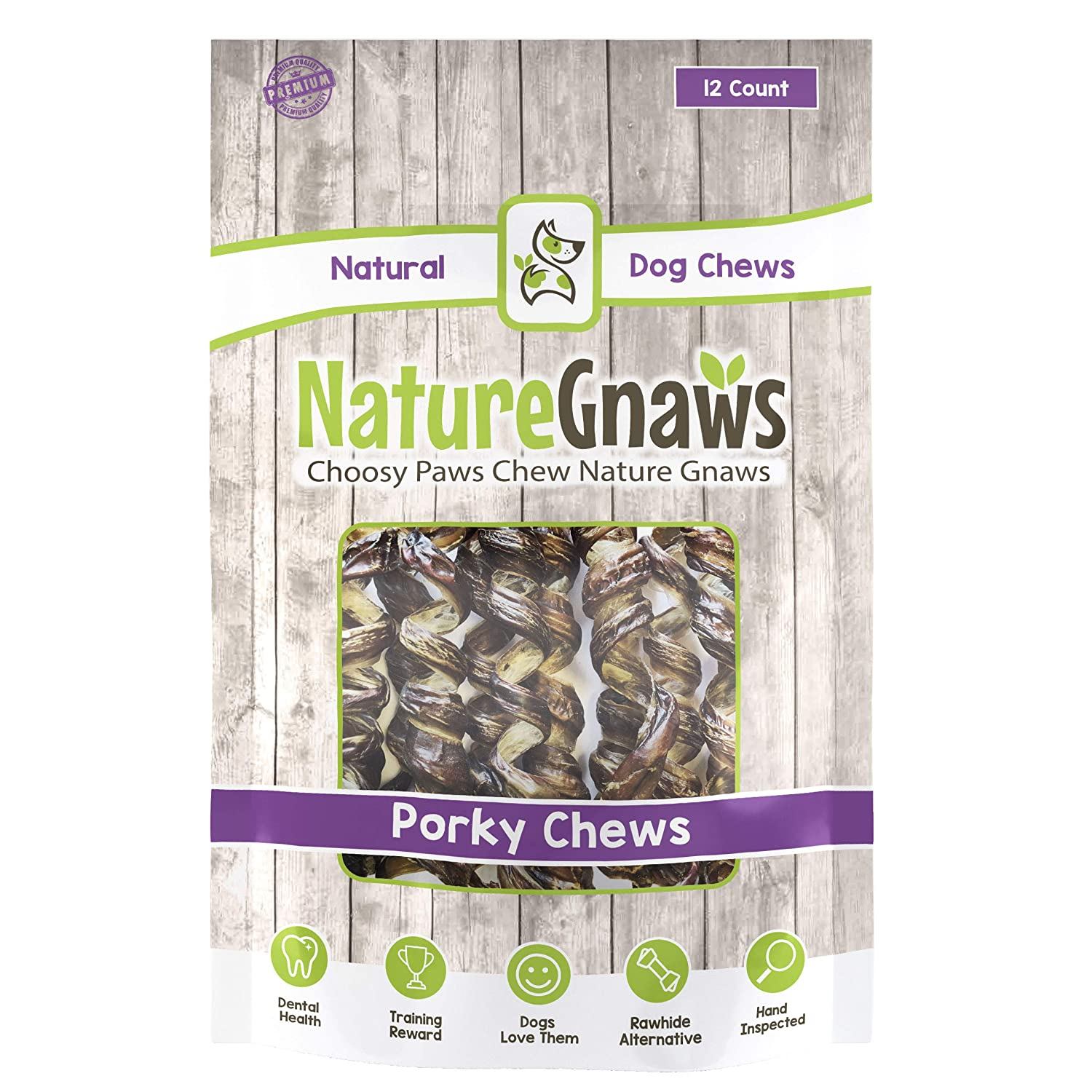 Nature Gnaws Porky Spring Chews – 100 Natural Premium Dog Chews